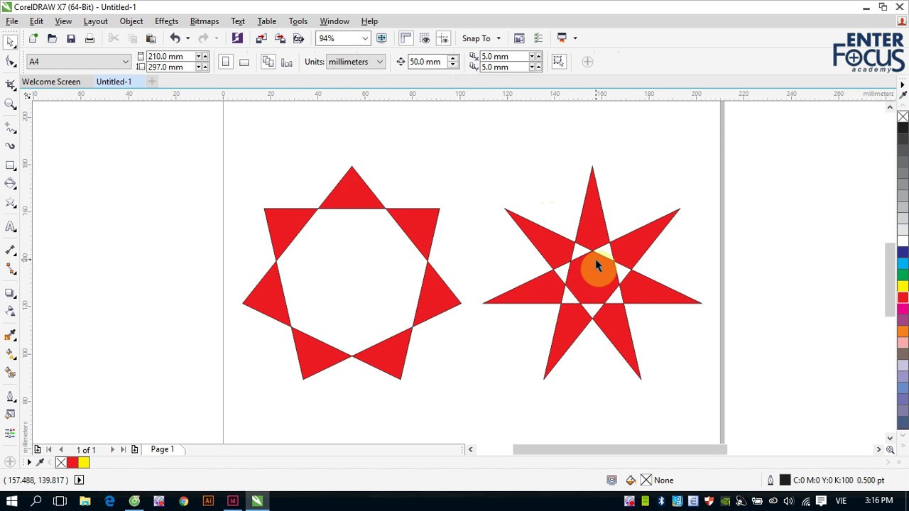 Học Corel DRAW: Giới thiệu các công cụ vẽ hình hình học cơ bản trong CorelDRAW
