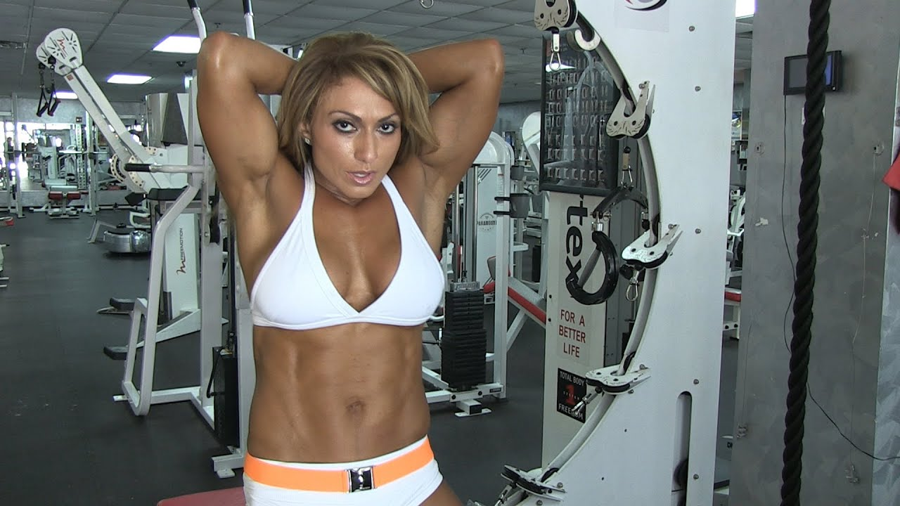Gym Workout Girl Wallpaper Karina Nascimento Ifbb Physique Pro Tricep Pull Downs Hard