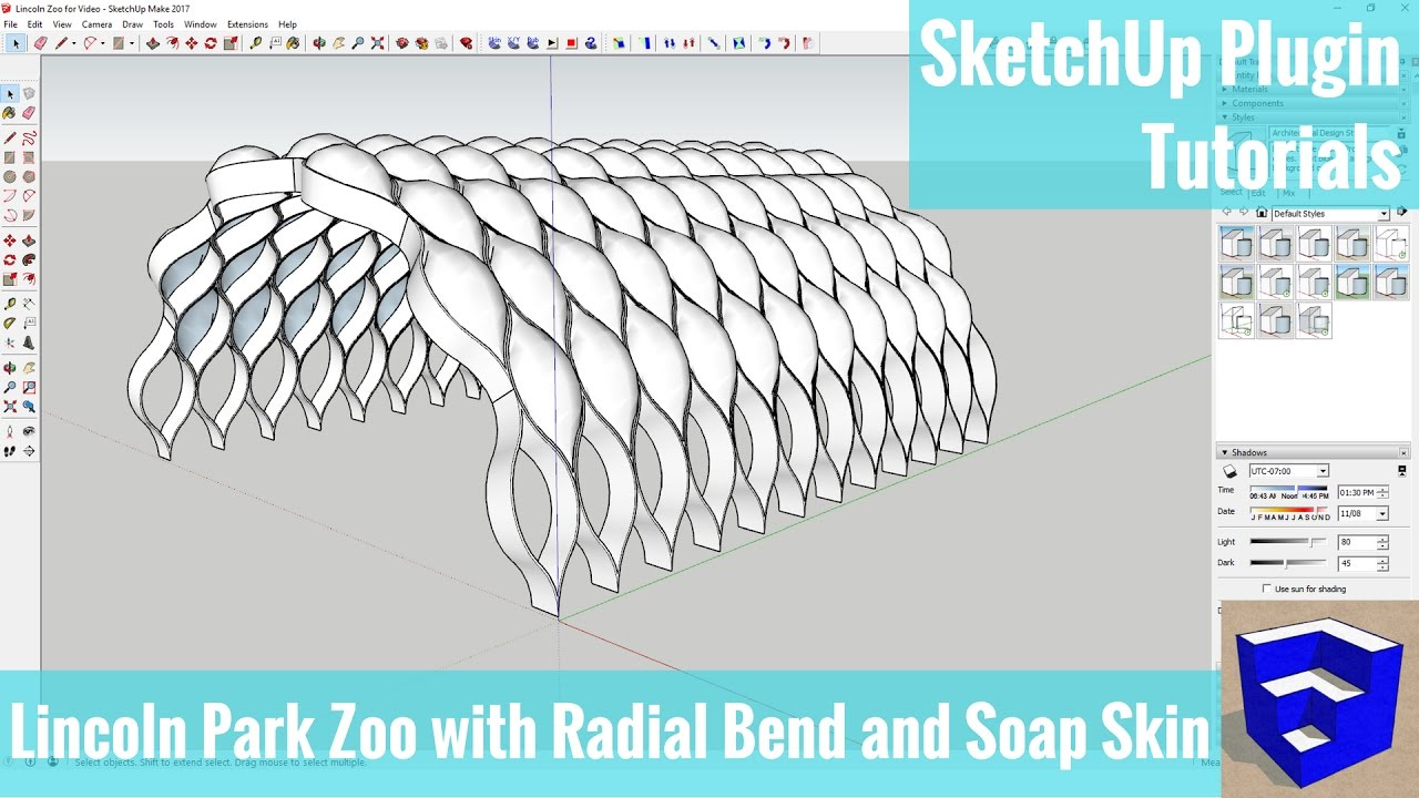 How to use soap skin bubble plugin in sketchup youtube.