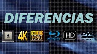 Diferencias entre 4K, HD, Full HD, Ultra HD, 8K, Televisores, Blu-ray y DVD, HD Ready Vs Quad HD