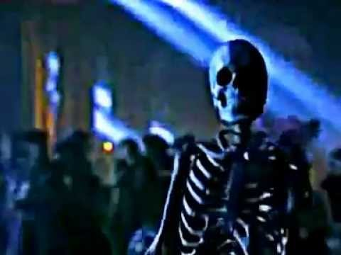 Moonwalking Skeleton performing Is It Scary from Ghosts