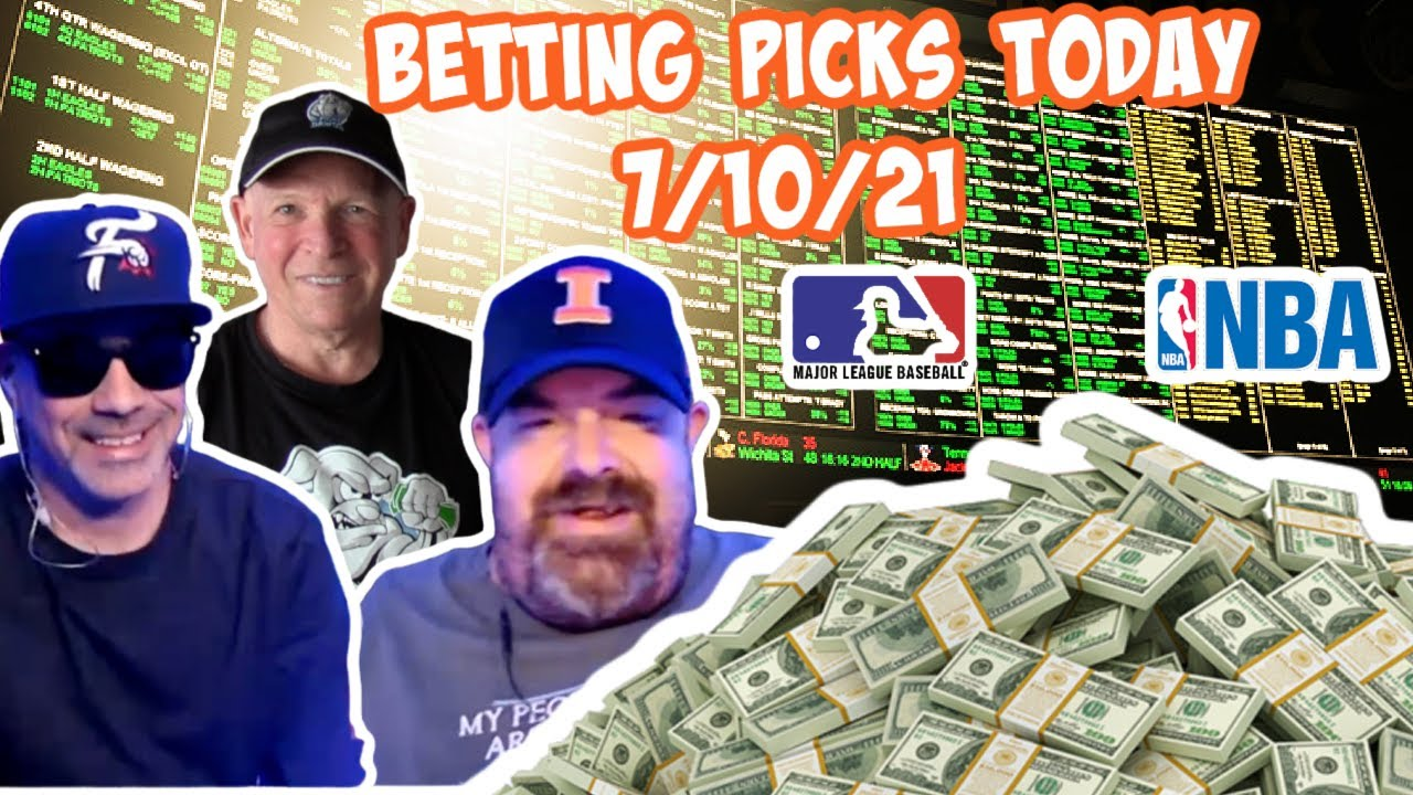 Live Sports Betting Picks 7/10/21 - MLB Picks -  Sports Betting Advice