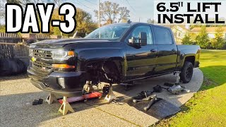 """[Day-3] 2017 Silverado 6.5"""" Lift install Chevy 1500 Driveway Project"""