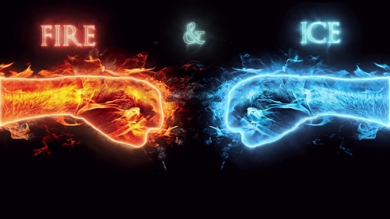 Fire And Ice Background Animated
