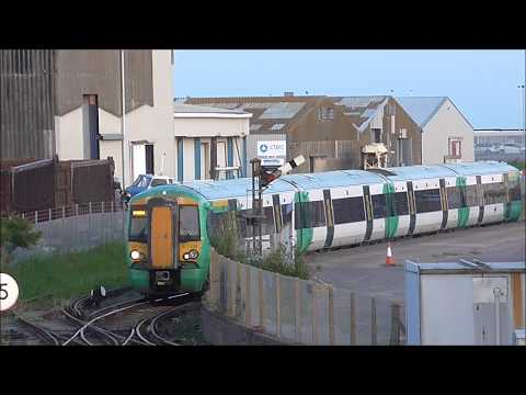 Southern Class 377 Departs Newhaven Marine Disused Railway Station