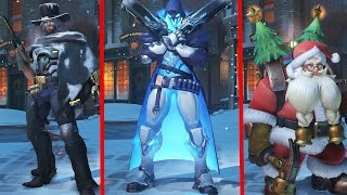 overwatch christmas skins emotes voice lines overwatch christmas update