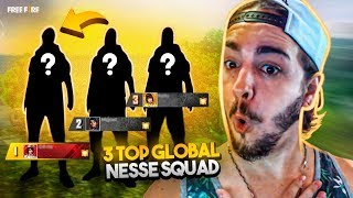 MITEI AWM! 3 TOP GLOBAL NO MESMO SQUAD FREE FIRE! FT NOBRU, B4 SINCE