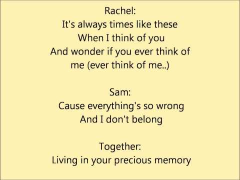 Glee - A thousand miles - lyrics