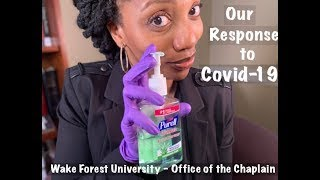 WFU Office of the Chaplain's response to COVID-19