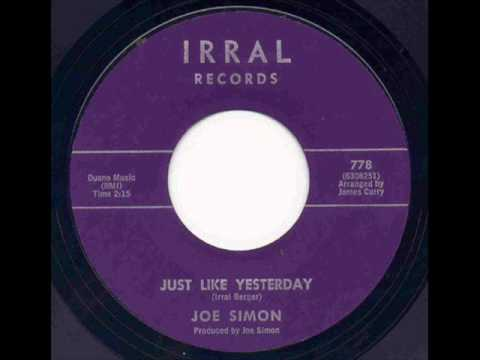 Joe Simon Just Like Yesterday Only A Dream