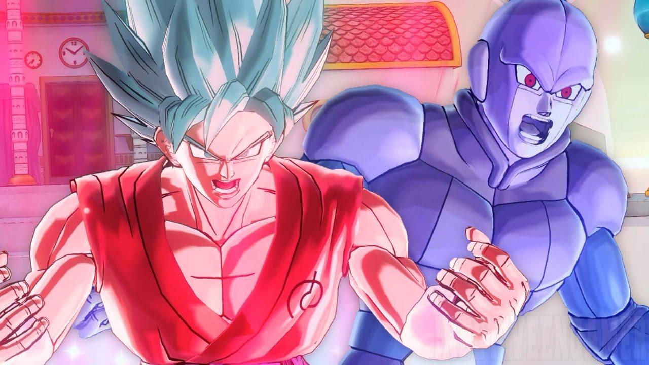 kaioken x10 super saiyan blue goku vs hit dragon ball xenoverse 2