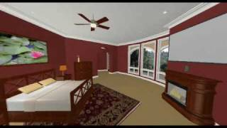 Upper Floor Part A, 3D Virtual Walkthrough, Villa Fora, Granite Bay, California