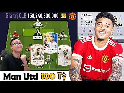 """I Love Cầm 100 Tỷ BP Đi Xây Dựng & Trải Nghiệm Đội Hình """" Manchester United """" Khủng / Xuất Sắc Nhất"""
