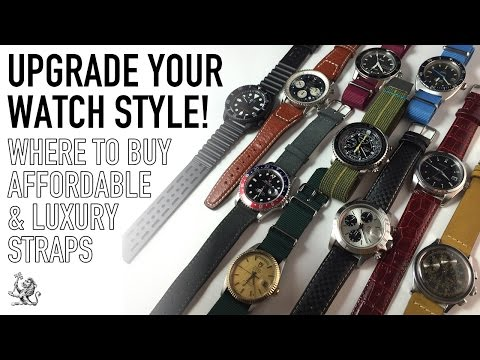 10 Affordable To Luxury Watch Straps - Perfect For Rolex, Omega, Breitling, Tissot & Seiko