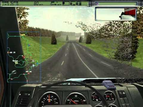 Дальнобойщики 2 HD на Windows 7. Кольцевая гонка