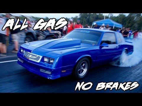 I GUESS THIS NITROUS MONTE CARLO IS NAMED ALL GAS NO BRAKES FOR A REASON!