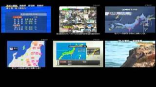 東北地方太平洋沖地震発生時の全テレビ局同時マルチ映像 thumbnail