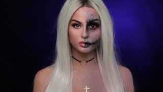 Two Face l Death Halloween Makeup Tutorial