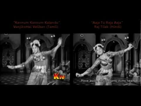 Comparing Vyjayanthimala and Padmini's Dance-off in Vanjikottai Valiban and Raj Tilak