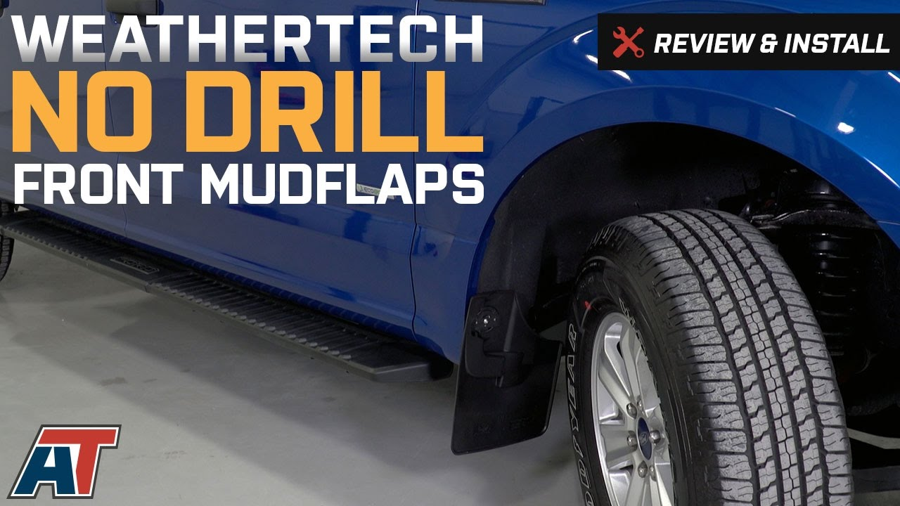 2017 Ford Ranger >> 2015-2017 F150 Weathertech Front No Drill MudFlaps Review ...