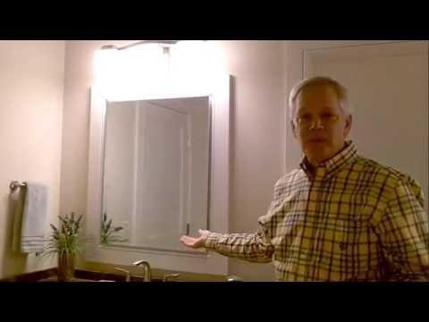 framed mirror medicine cabinet youtube. Black Bedroom Furniture Sets. Home Design Ideas