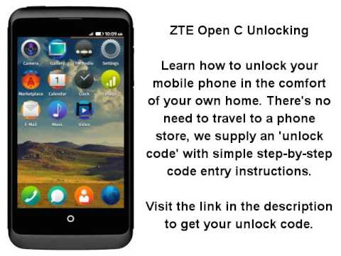Unlock ZTE Open C By Unlock Code