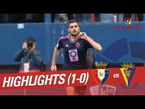 Resumen de Osasuna vs Cádiz CF (1-0)
