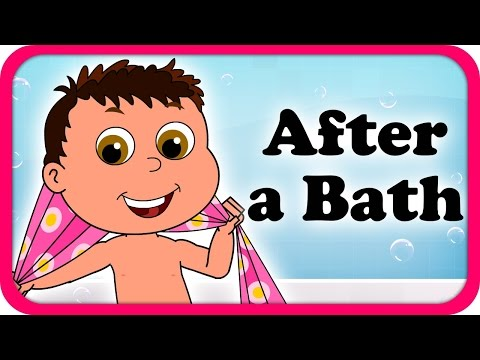 After A Bath I Try Try Try Lyrical Video | English Nursery Rhymes Full Lyrics For Kids & Children
