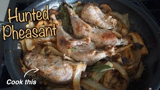 Cooking PHEASANT after HUNTING -- Easy Fall Meal -- (Butter & Wine Sauce)