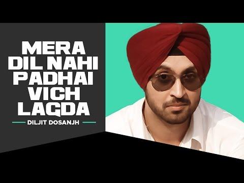 Diljit Dosanjh | Mera Dil Nahi Padhai Vich Lagda Akhran Vich Tu Disdi | Smile | T-Series