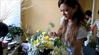 базовый курс Профессия-Флорист обучение изготовление букета школа флористики Мажорель-Класс Киев