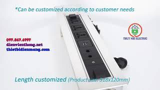 Hộp ổ cắm điện âm bàn kết hợp sạc không dây Sinoamigo SMT-3