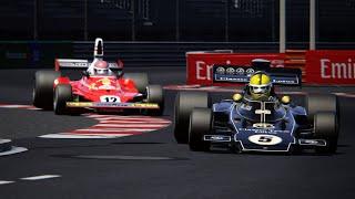 F1 LEGENDS Ferrari 312T(Niki Lauda) VS Lotus 72D (Emerson Fittipaldi) At Monaco Assettocorsa
