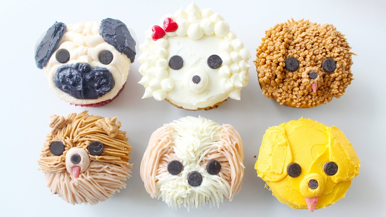 DIY DOG CUPCAKES Pug Pomeranian Golden Retriever Shih Tzu