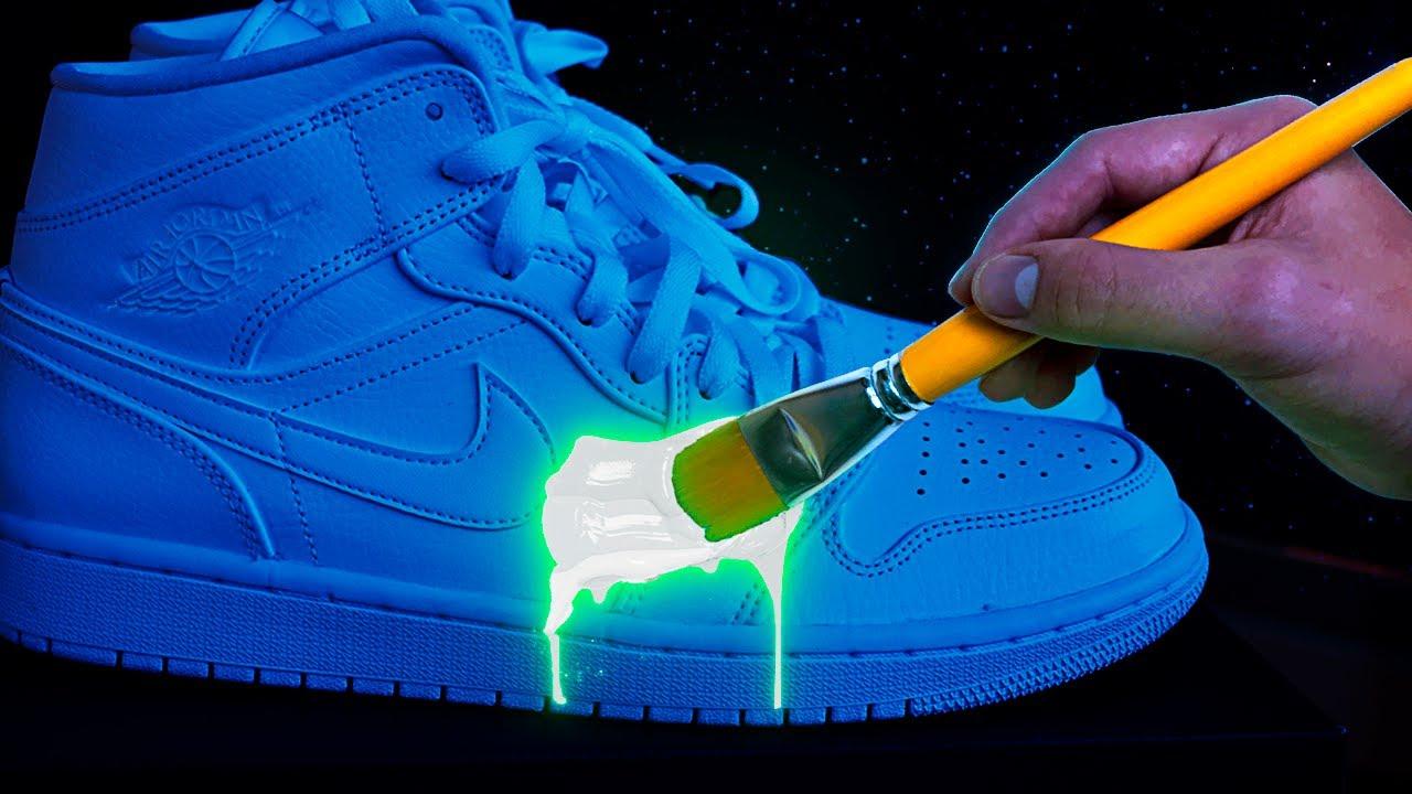Personalizo unas Jordan 1 que brillan en la oscuridad!!