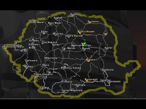 Euro Truck Simulator 2 Harta Romaniei Youtube