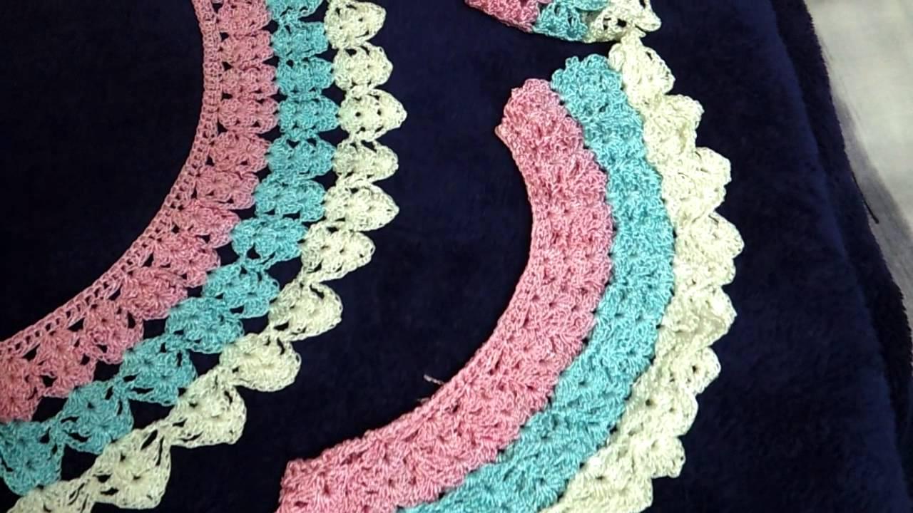 14ab76b889d Crochet coller - YouTube