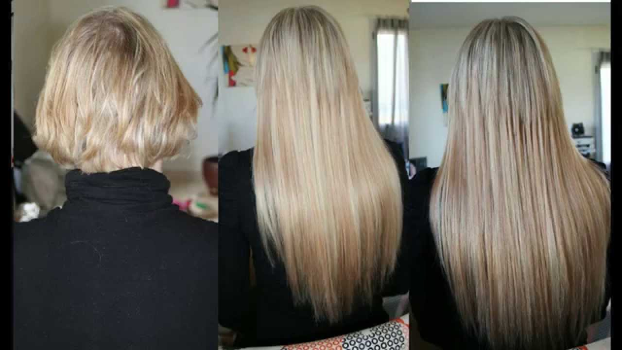 Favori pose d extensions sur carré cheveux fins - YouTube YK57