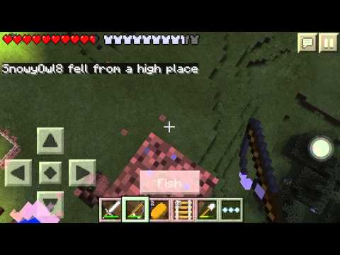 Fishing rod glitch minecraft pe w snowyowl8 youtube for How to fish in minecraft pe