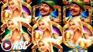 *BIG WIN!* BIER HAUS | WMS - W/ RETRIGGER! Slot Machine Bonus