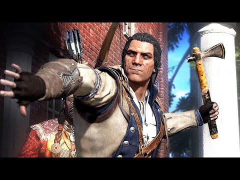How Connor Became an Assassin, Got His Name and Outfit, All Scenes with Achilles - AC 3 REMASTERED