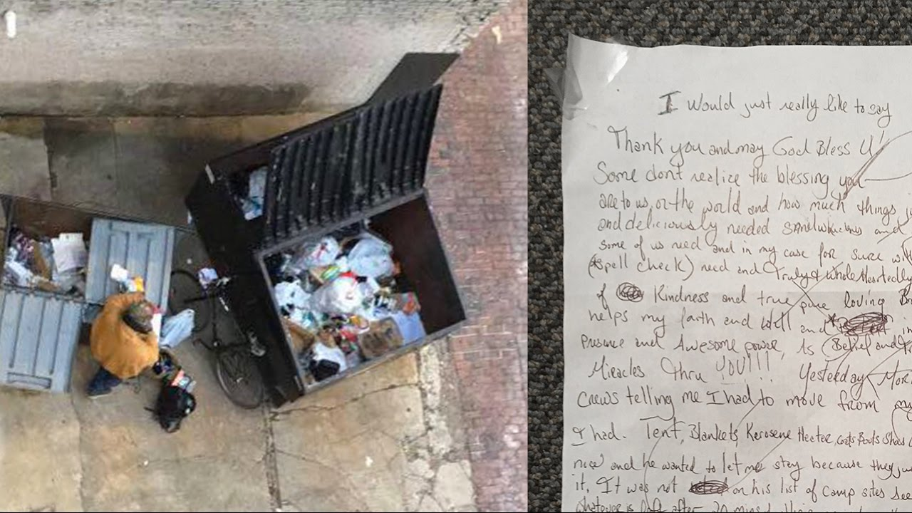 Homeless Man Leaves Heartbreaking Note on the Street Corner Where He Used to Sit