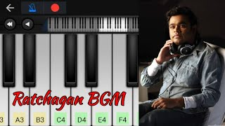 Ratchagan Theme | Mass BGM | Easy Piano Tutorial | A.R. Rahman