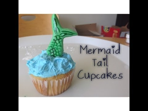 Mermaid Tail Cupcakes An Atomic Cupcake Tutorial YouTube