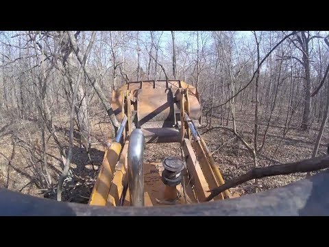 20 Minutes of a Bulldozer Clearing Trees: 1st Person Perspective