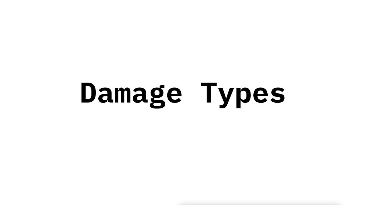 Download Damage Types