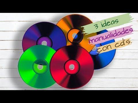 3 IDEAS, MANUALIDADES CON CDS