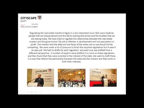 Minister of Housing, Utilities and Urban Communities, Egypt, Speech 2015
