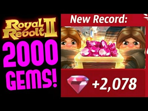 ROYAL REVOLT 2 - 2000 GEMS! NEW LEAGUE RECORD!! (How To)