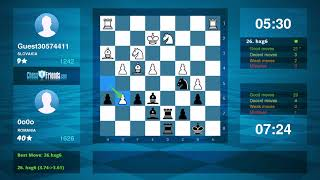 Chess Game Analysis: Guest30574411 - 0o0o : 1-0 (By ChessFriends.com)